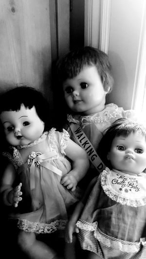 Creepy Dolls Child Girls Childhood Females Indoors  Looking At Camera Togetherness Daughter People Cute Portrait Home Interior Lifestyles Children Only Boys Adult Day Notes From The Underground