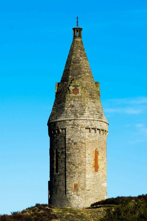 Outdoors Architecture History Blue Sky Clear Sky Beauty In Nature Tameside Tranquility Hartshead Pike Turnpike