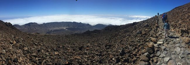 Teide vulcan, mountain's king Mountain Remote Nature Outdoors Landscape SPAIN Blue Sky Vulcan Tenerife