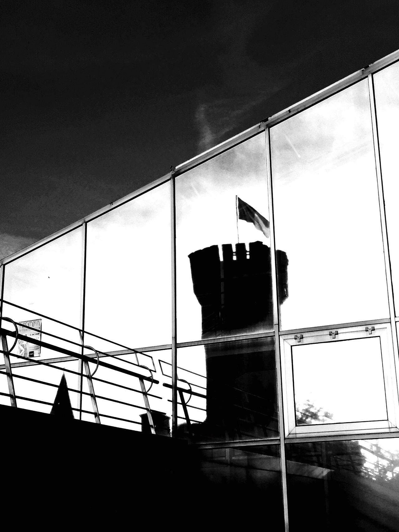 Window Glass - Material Cloud Urban Exploration Black And White Architecture_bw Rhein Cologne , Köln,  EyeEm Best Shots - Black + White Urban Photography Architecture The Week On Eye Em EyeEm Best Shots Museum Schokoladenmuseum in Cologne Mirror