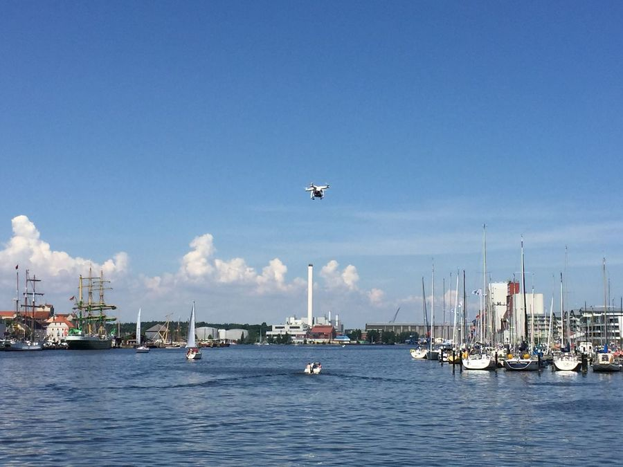 Port Hafen Flensburg Hafenspitze Germany Drohne Drone