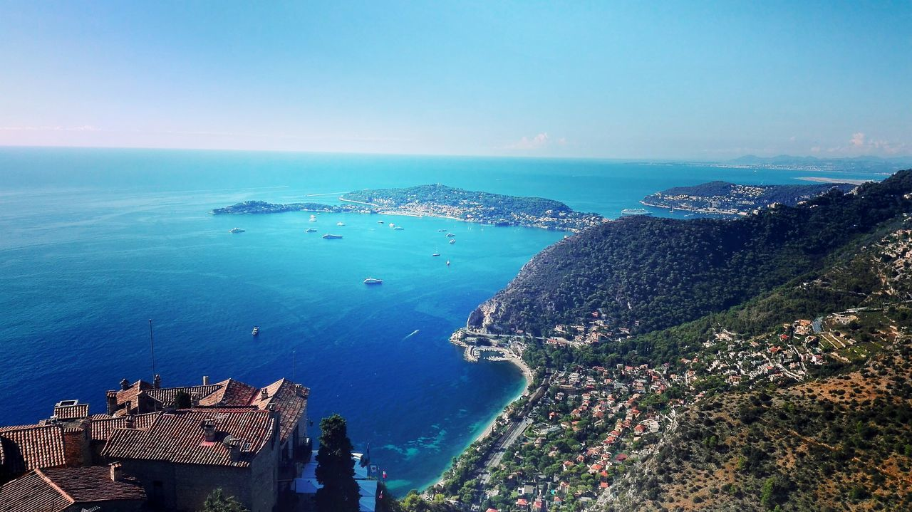 Sea Water Blue Horizon Over Water High Angle View Clear Sky Coastline Nature Aerial View Sky Day Seascape Outdoors Tourism Summer Mountain Beauty In Nature Italy🇮🇹 France Boarder