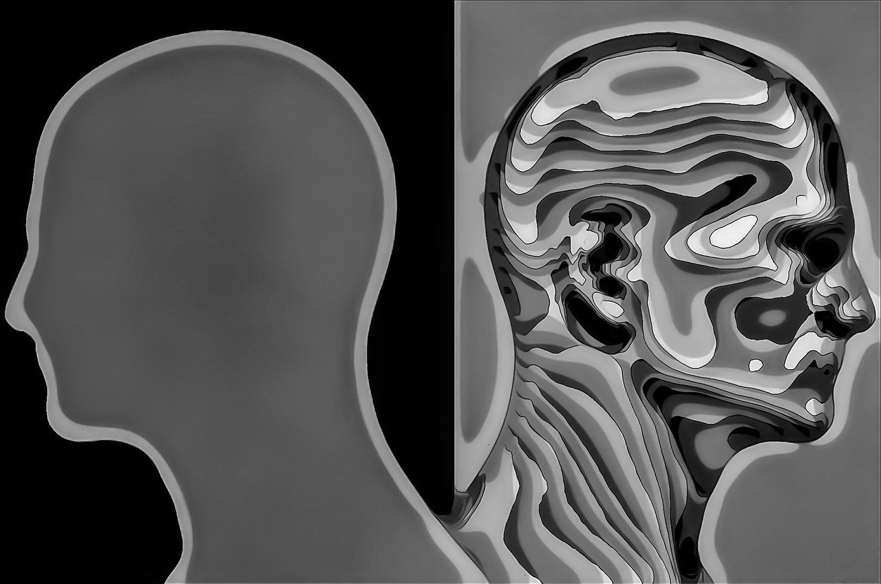 Human HEAD Photoshop Blackandwhite Difference  Monochrome Photography