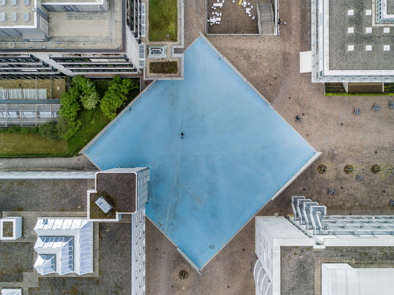 Architecture Building Exterior Built Structure Chair City Day High Angle View No People Outdoors Swimming Pool Water