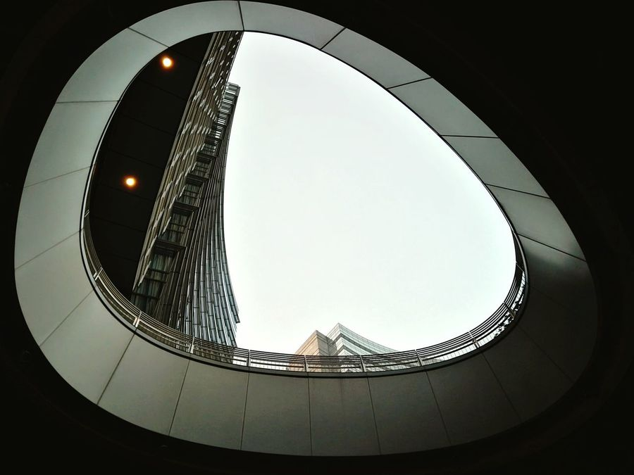 Oval Architecture Sky ELLIPSE City Business Finance And Industry Skyscraper Cityscape Personal Perspective Milano Milanocity City Streetphoto Streetlights And Sky BestofEyeEm No People Outdoors Citycenter Cityphotography