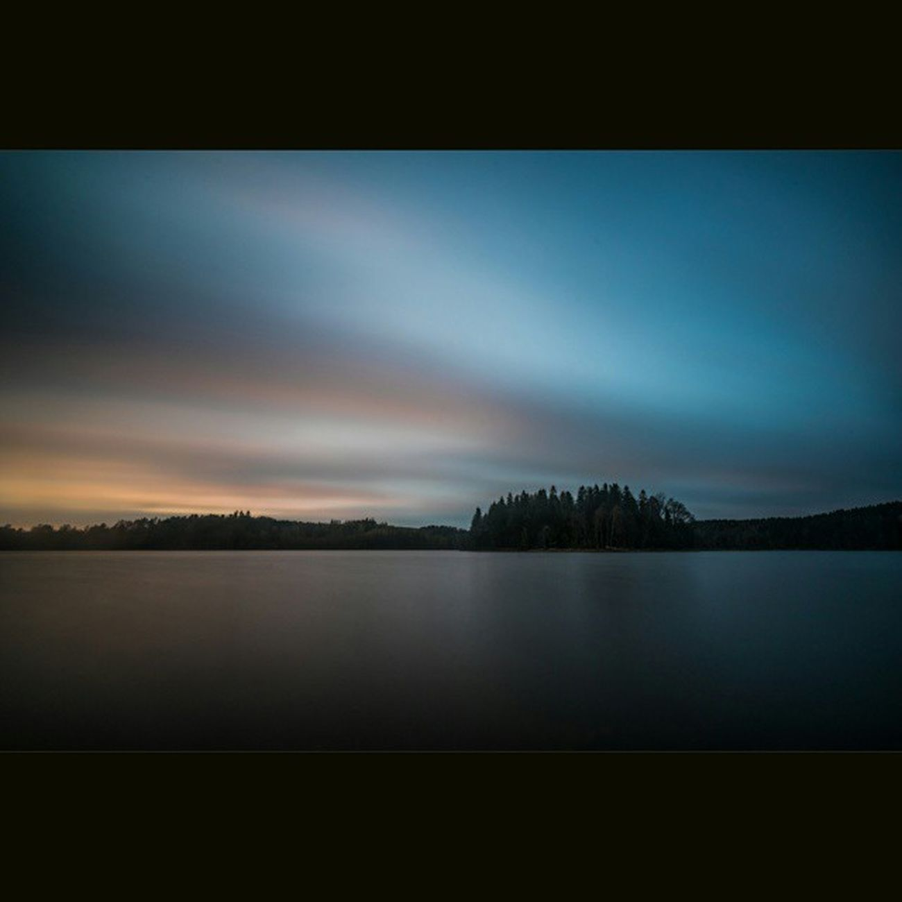 Björvattnet Sunset Longexposure BigStopper Night Water Island Lake Quiet Calm Sweden Rsa_water
