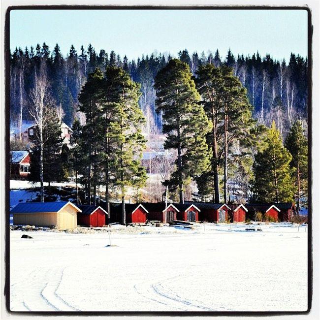 Instadalarna Leksand Dalarna Siljan Hjortnäs Stillhet Vinter