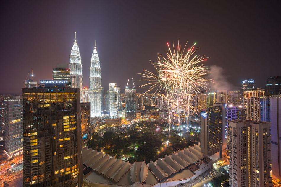 Beautiful stock photos of feuerwerk, Kuala Lumpur, Malaysia, Smoke - Physical Structure, architecture