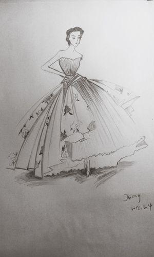 念 婚纱 手绘