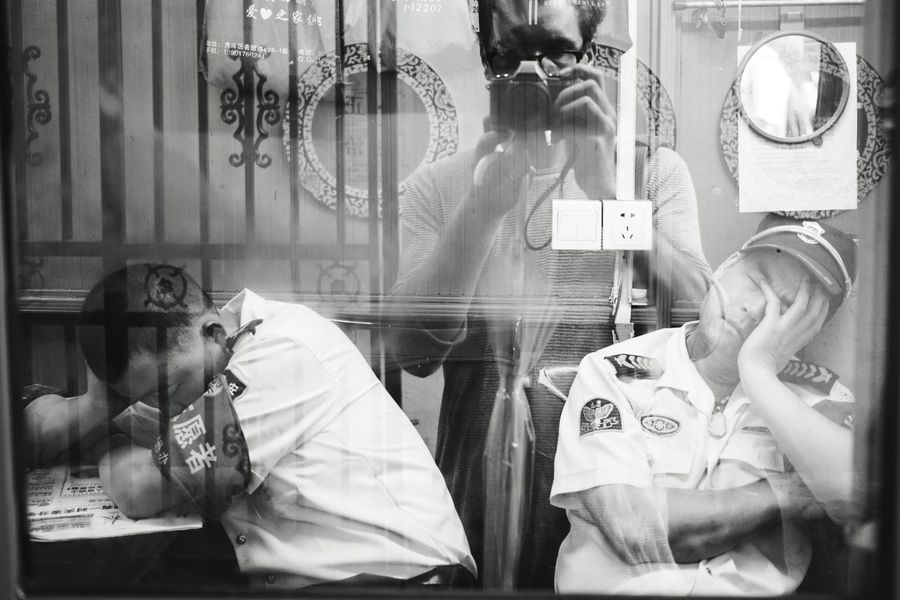 the nap Relaxing Monochrome Street Photography Security