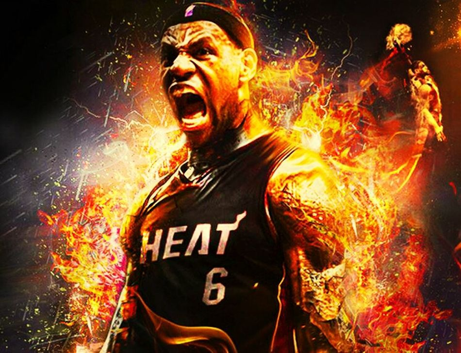 Miami Heat Lebron James The King James The Burning LeBron LeBron Is On FIRE