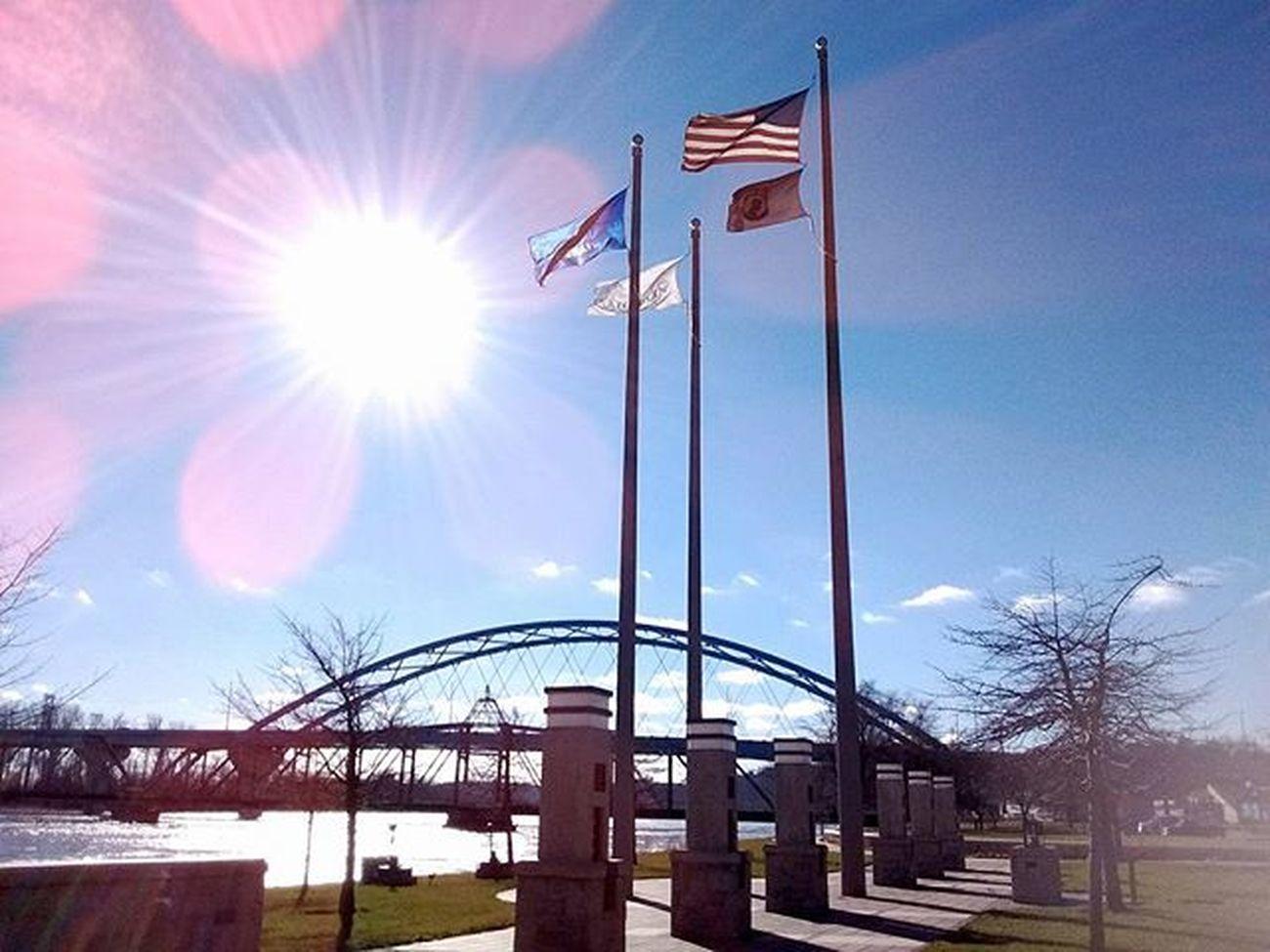 down by the river today...... Ks_pride Atchison Kansas Water Americaflag Kansasflag VeteransMemorialPark Rember Kansasphotos Kansasphotographer Sunshine Instapic Instamood Wow_america Fuckyeah