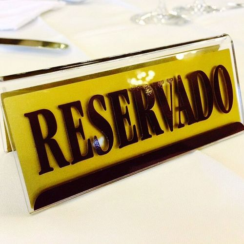 Reservado Booked Sign Restaurant Booking Table Reservation Vintage Retro Typography