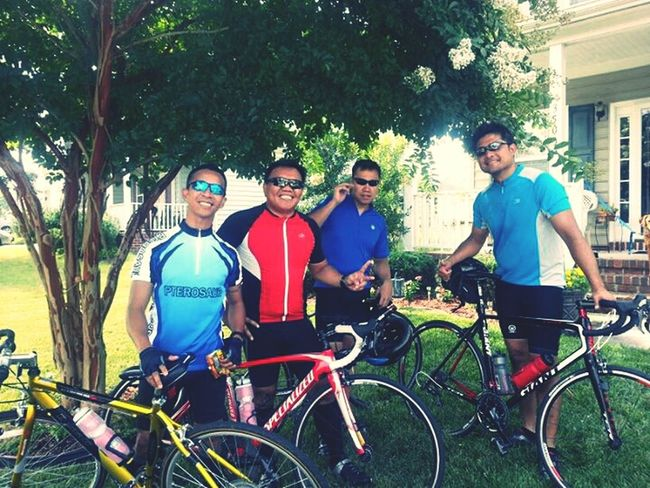 Details Of My Life an Early Morning Bike Ride 26.2 miles with good Friends Hello World