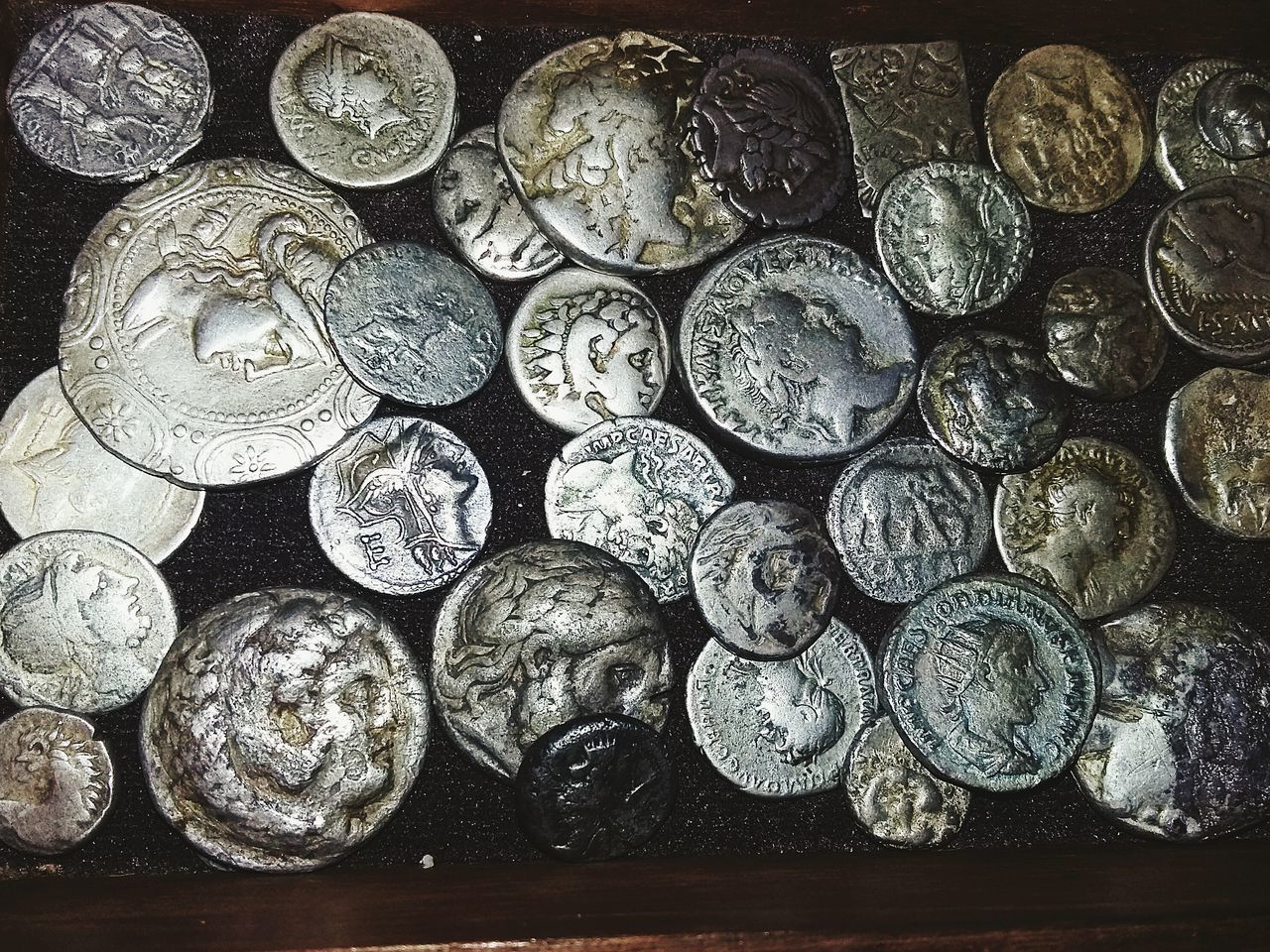 Ancient coins. Romans Roma Grece Persian B.C. A.C. Coins AR Coins Collection Antient Ancient Money Archeology Grèce, Greece, Alexander The Great Phillip Silver Coins