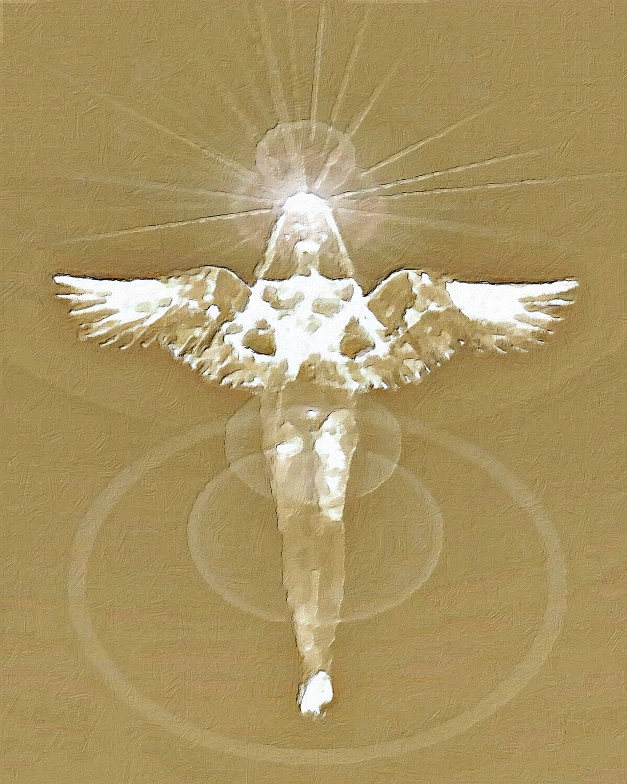 Be calm, They are real. Angel Art Angel Angels Angel Wings Spirituality NEW MEDIA ART TCPM Cut And Paste