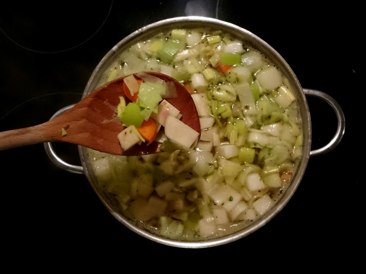 Soup Vegetable German Food Healthy Food Hearty Soup Food And Drink Healthy Eating Indoors  Freshness Food No People Black Background Ready-to-eat Close-up Day