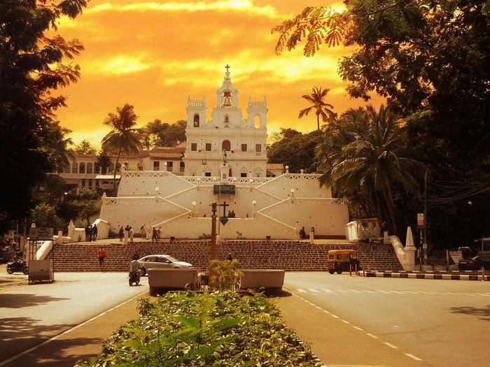 Religion Outdoors Architecture Sky Building Structure Travel Destinations Day Rickshaw Street Spirituality Immaculate Goa Conception Lady India Old Church Temple Shrine Sunset Town City Steps Unique The Architect - 2017 EyeEm Awards The Street Photographer - 2017 EyeEm Awards The Great Outdoors - 2017 EyeEm Awards