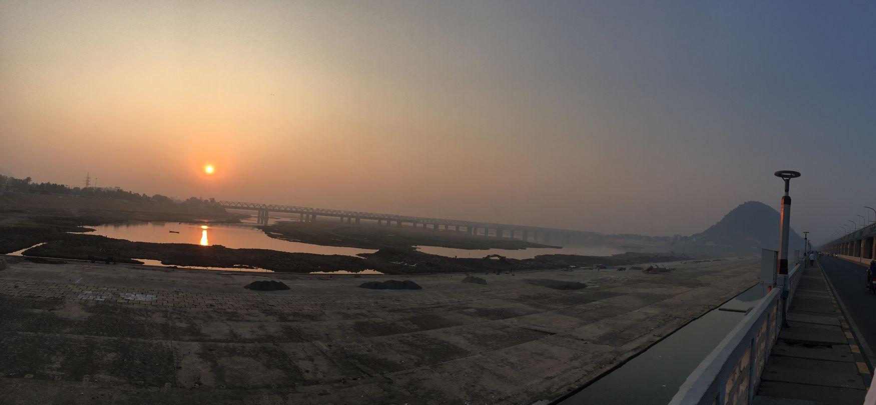 Panaroma Panaroma Photography Krishna River Prakasambarage Vijayawada