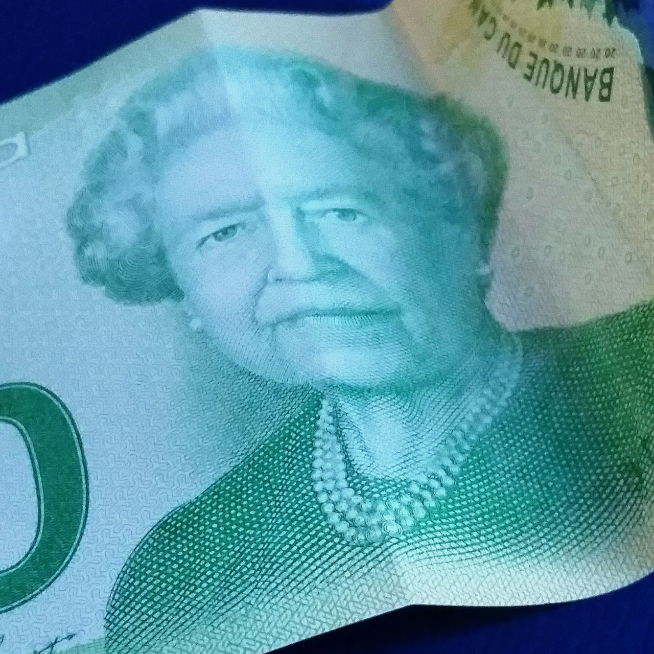 Showcase March One Queen Two Faces Sad Face Queen QEII Drama Queen  Canadian Dollars