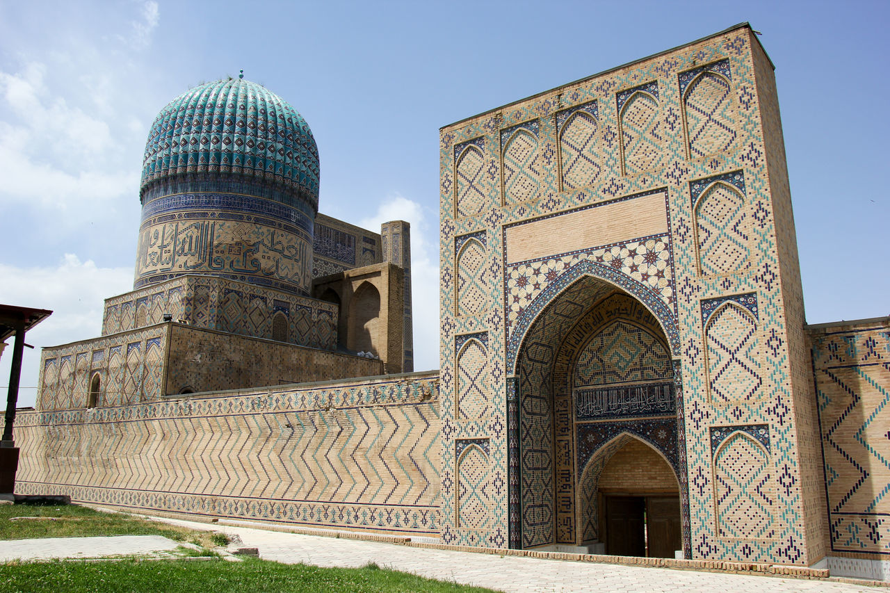 Architecture Building Exterior Built Structure Day Dome History Islamic Islamic Architecture Islamic Art Mausoleum No People Outdoors Religion Samarkand Samarqand Silk Road Sky Travel Destinations Uzbekistan