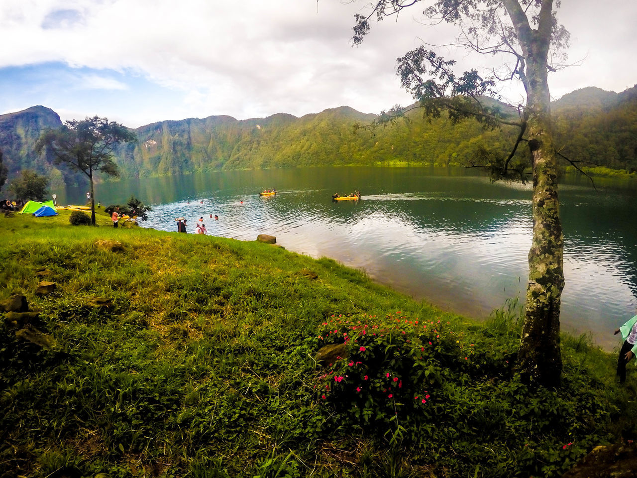 This view though. :) Beauty In Nature Day Grass Growth Lake Lake Holon Lake View Lakes  Landscape Lush - Description Mirror Lake Mountain Natural Parkland Nature No People Outdoors Reflection Scenics Sky Tree Water