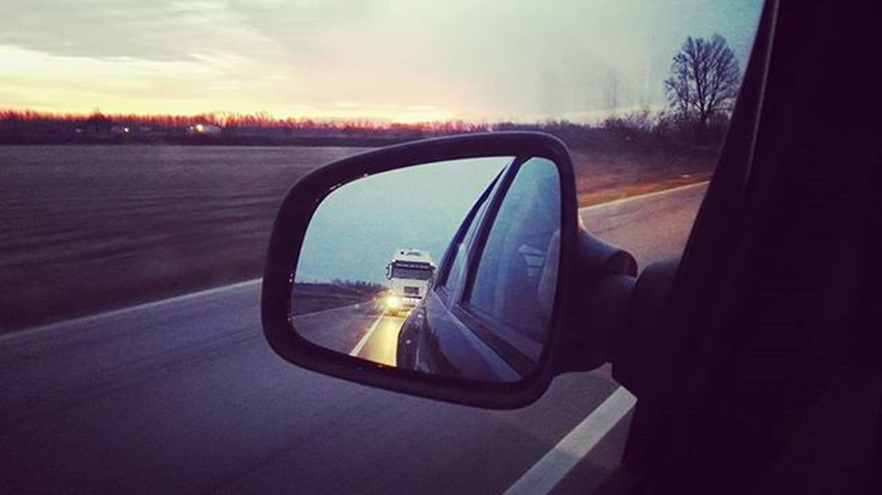 Good morning rearview Rearview Sunset Car Driving Road Drive Specchietto Macchina Instagood Picoftheday Instadaily Ontheroad Viaggio Instalike