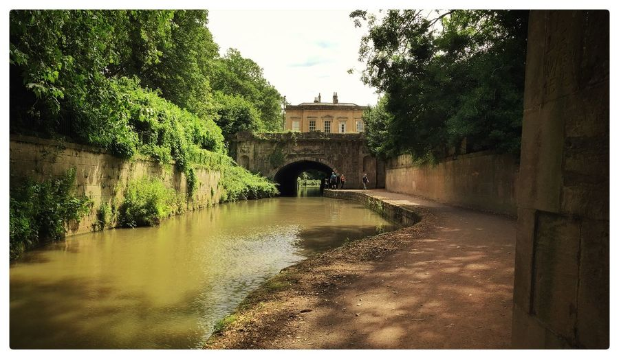 Kenner & Avon canal at Sydney gardens Bath UK Architecture Outdoors Building Exterior Historic