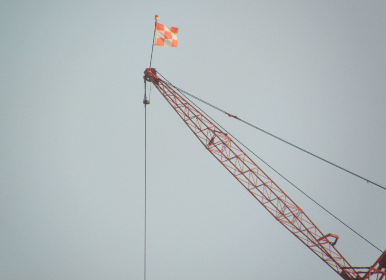Construction Crane Blue Close-up Construction Construction Crane Construction Site Crane Culture Day Development Low Angle View Nature No People Outdoors Red Sky