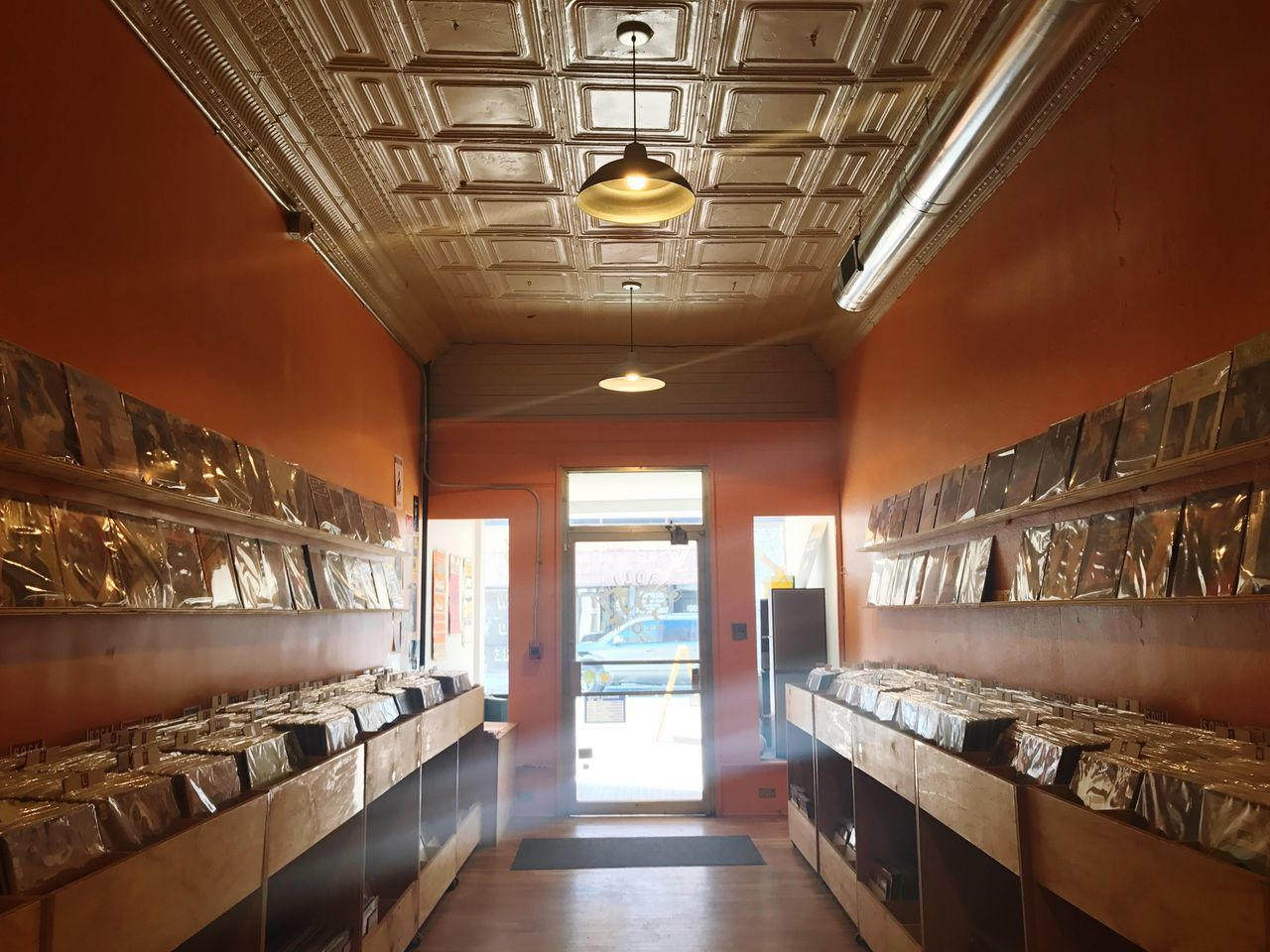 Selling some vinyl at this cool record store. Indoors  Built Structure No People Architecture Day Interior Records Stone Retail  Small Business