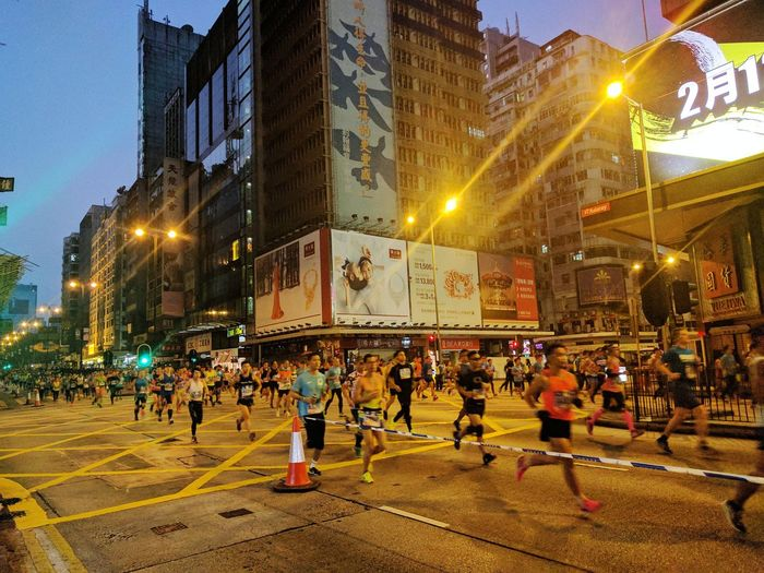 HongKong Marathon Large Group Of People City Outdoors Real People