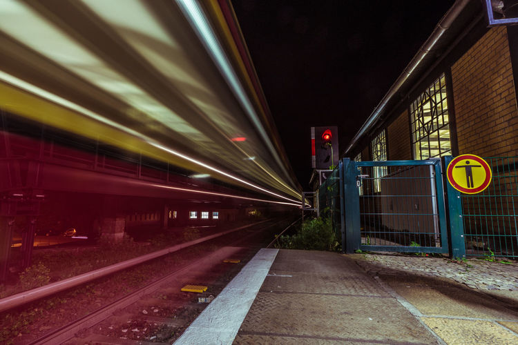 2016_05_Berlin_DE Berlin Blurred Motion Bvg City Life Long Exposure Night Nightphotography Rahnsdorf Rail Transportation Railroad Track Railway Track S-bahn The Street Photographer - 2016 EyeEm Awards Train