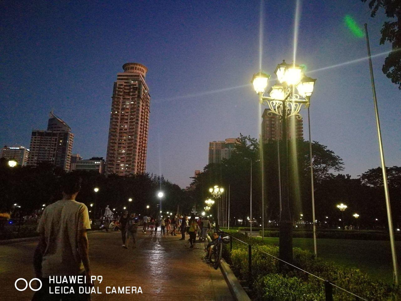 Night Illuminated City Outdoors Huawei Leica Eyeem Philippines Park Lamppost Luneta