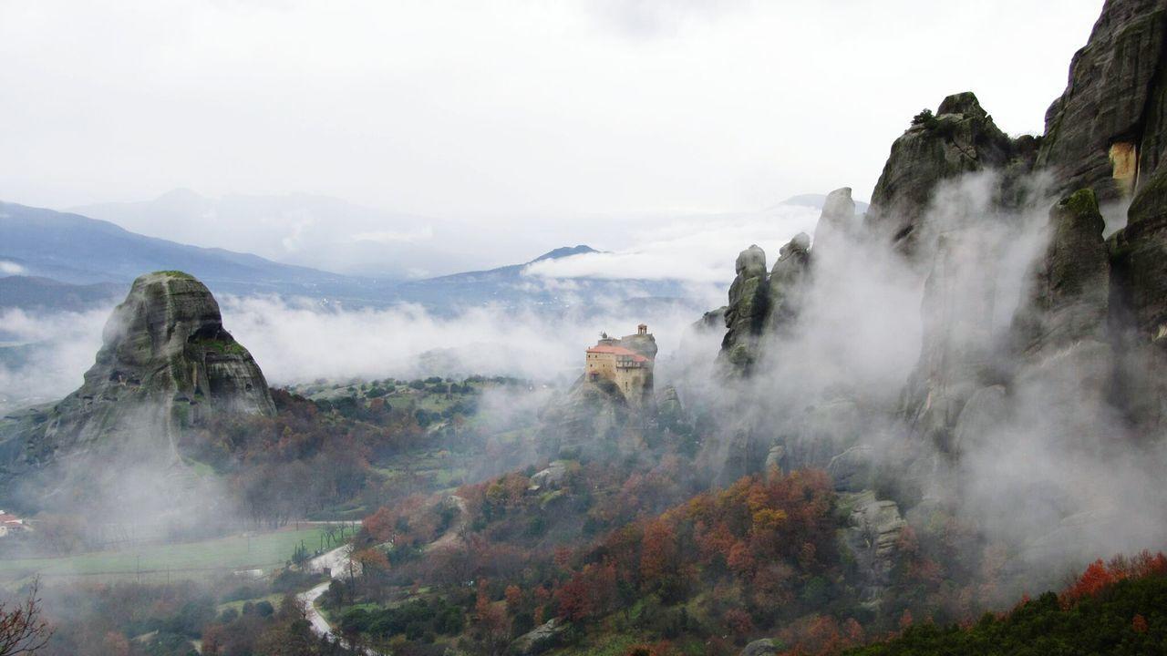 Meteora Greece Gopro Foggy