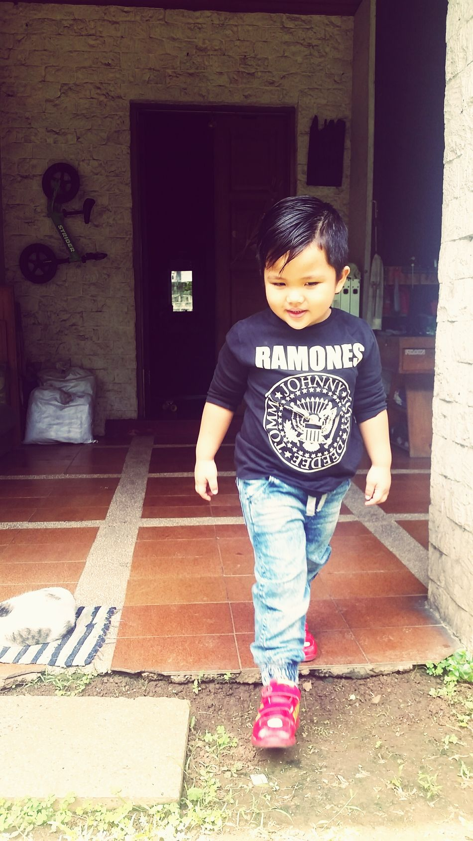 Childhood Child Children Only Ramones Ootd Joggerpants Adidas Ironman Love Fouryearsold