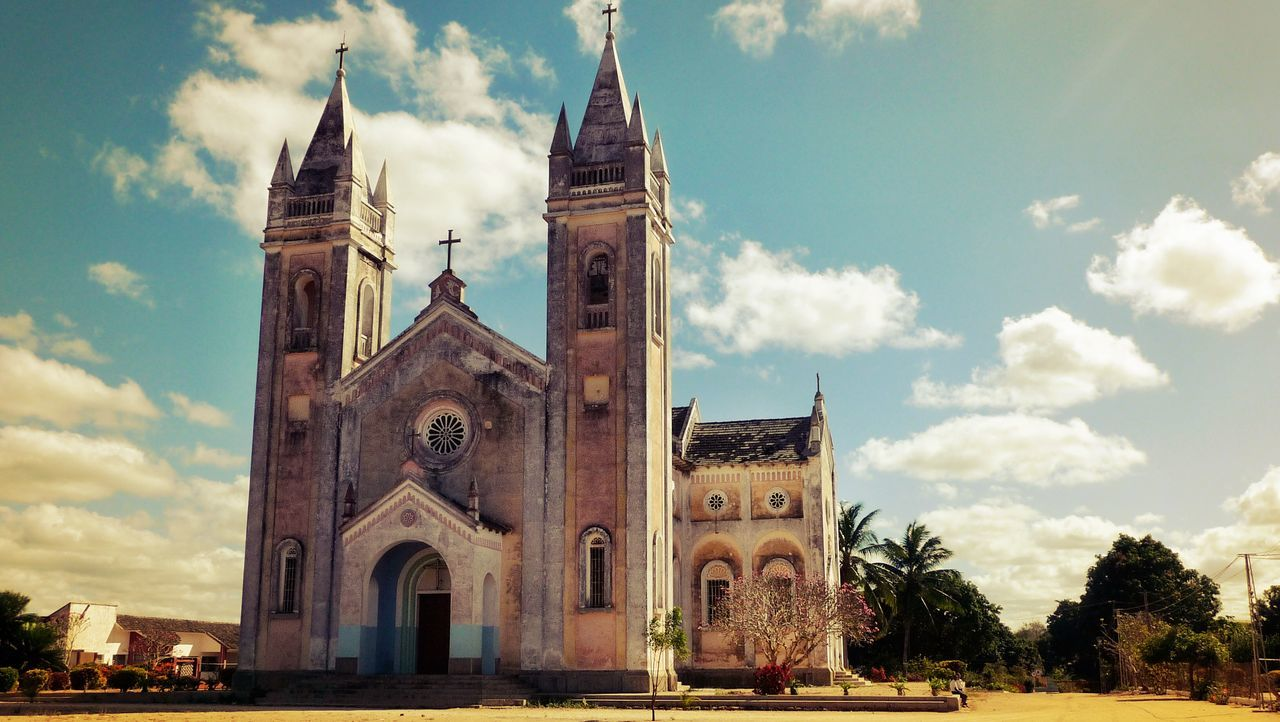 Architecture Building Exterior Built Structure Carapira Cathedral Church Day Façade History Low Angle View No People Outdoors Place Of Worship Religion Spirituality