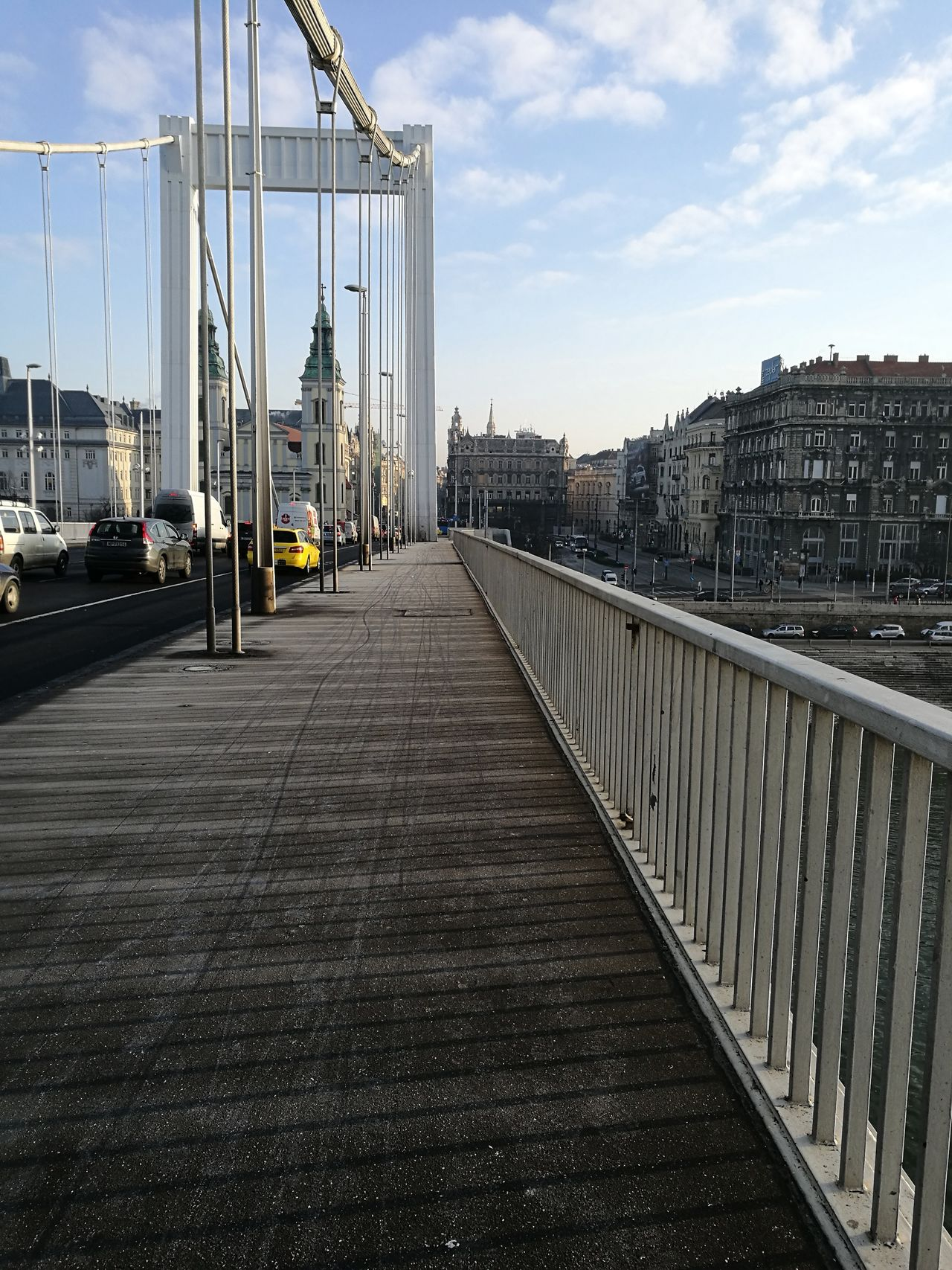 City Bridge - Man Made Structure Architecture Cityscape Shadows & Lights Budapest White Frost