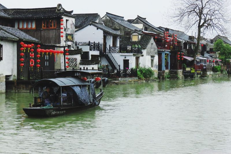 Waterfront Ancient Ship Town Lifestyles Day Water Travelling Scenics River Relaxing Hanging Out On The Road
