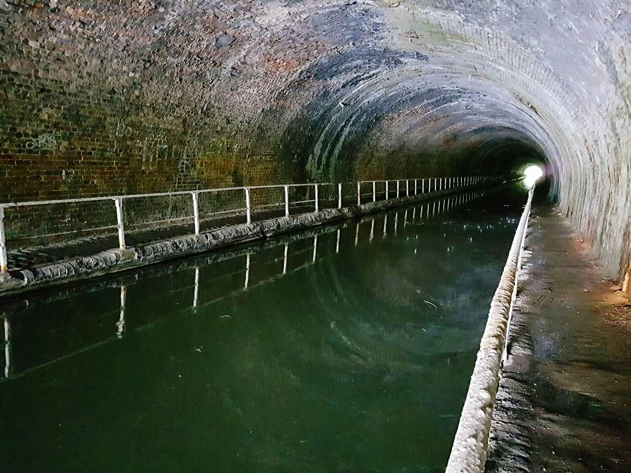 water, tunnel, architecture, built structure, day, no people, lake, indoors