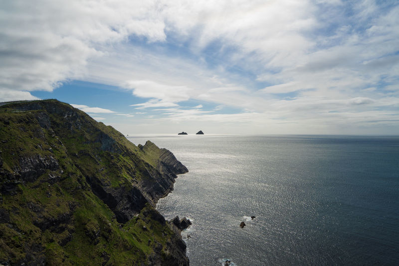 After Rain Animal Themes Beauty In Nature Bird Cliff Of Kerry Cloud - Sky Day Dingle Dingle Peninsula High Angle View Horizon Over Water Ireland Kerry Nature Outdoors Real People Ring Of Kerry Scenics Sea Skellig Islands Sky Tranquil Scene Tranquility Water Wild Atlantic Way