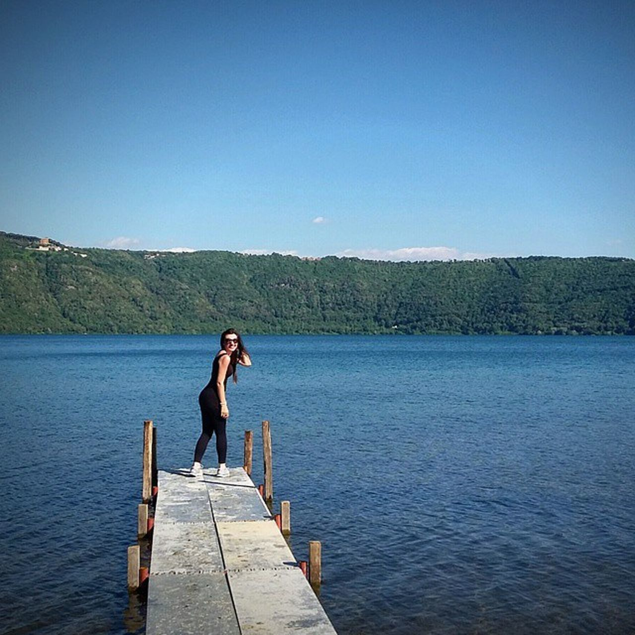Apparently, I loved this little dock! Me ThatsMe Lake Albano Lago Di Albano Roma Rome Love Beautiful Nature Mountains Mountain Photography Fun Happy Summer Dock Living In Rome Town My Best Photo 2015