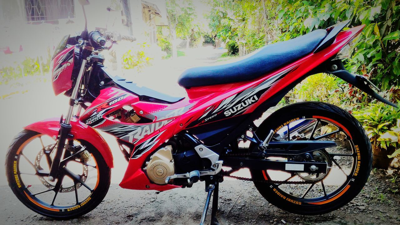 Goodmorning EyeEm  Eyeem Philippines Bikeporn Suzuki Raider R150 Redmotor