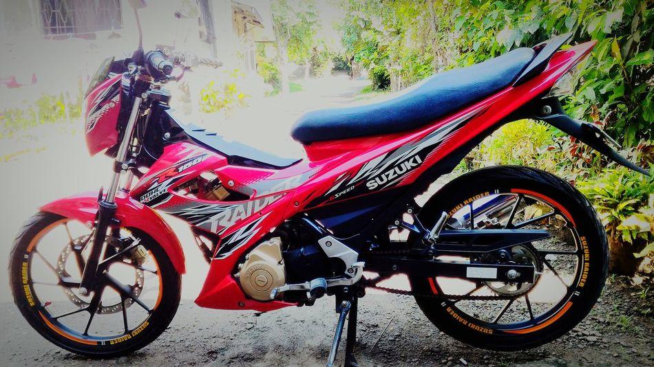 Goodmorning EyeEm  Eyeem Philippines Bikeporn Suzuki Raider R150 Redmotor