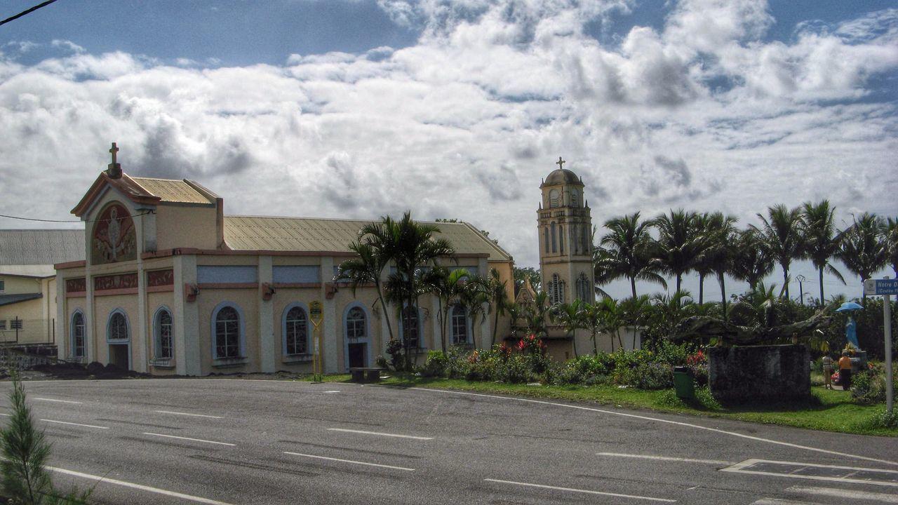 Church Against Cloudy Sky