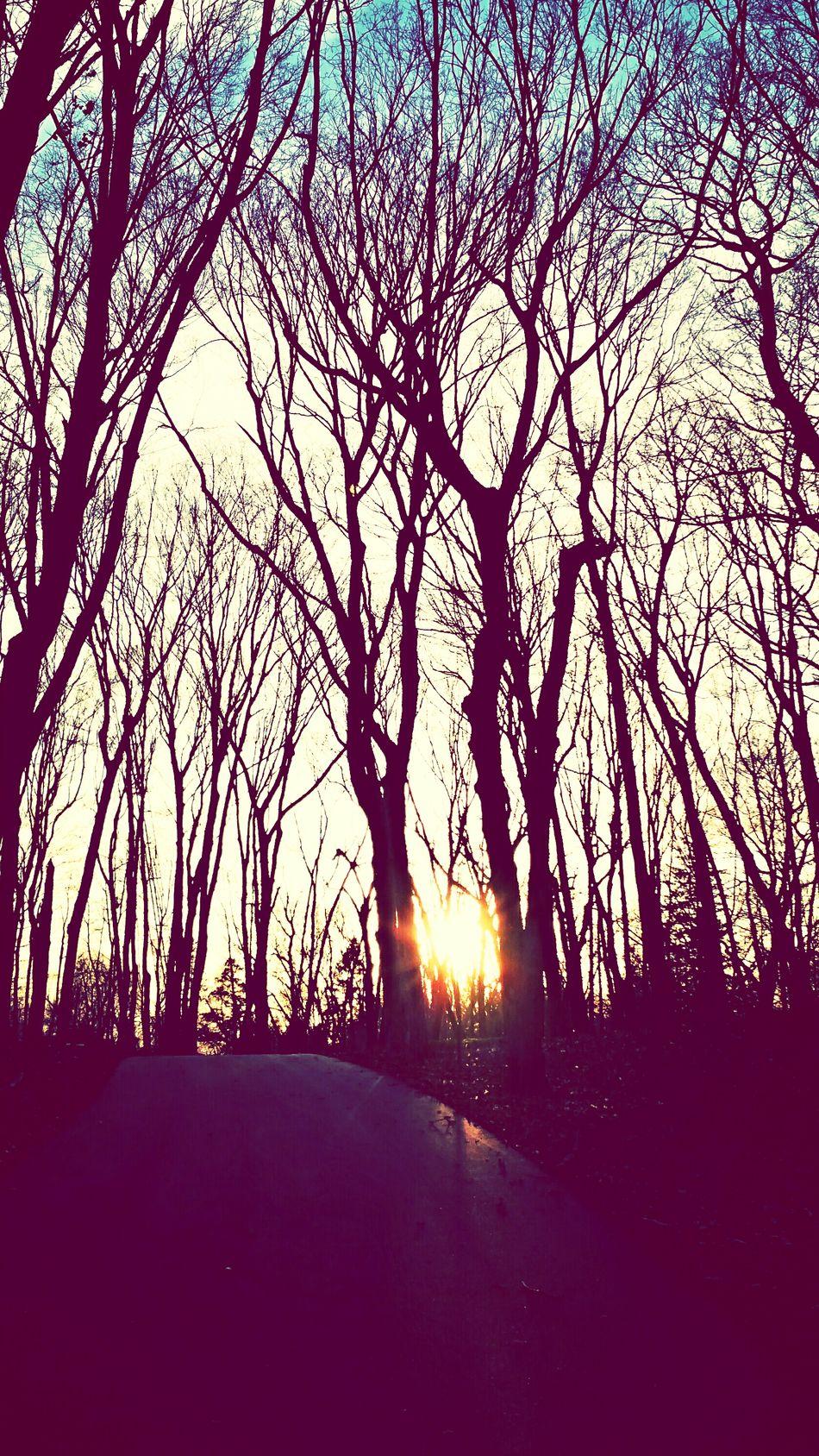Walking at sunset with my daughter Enjoying Life