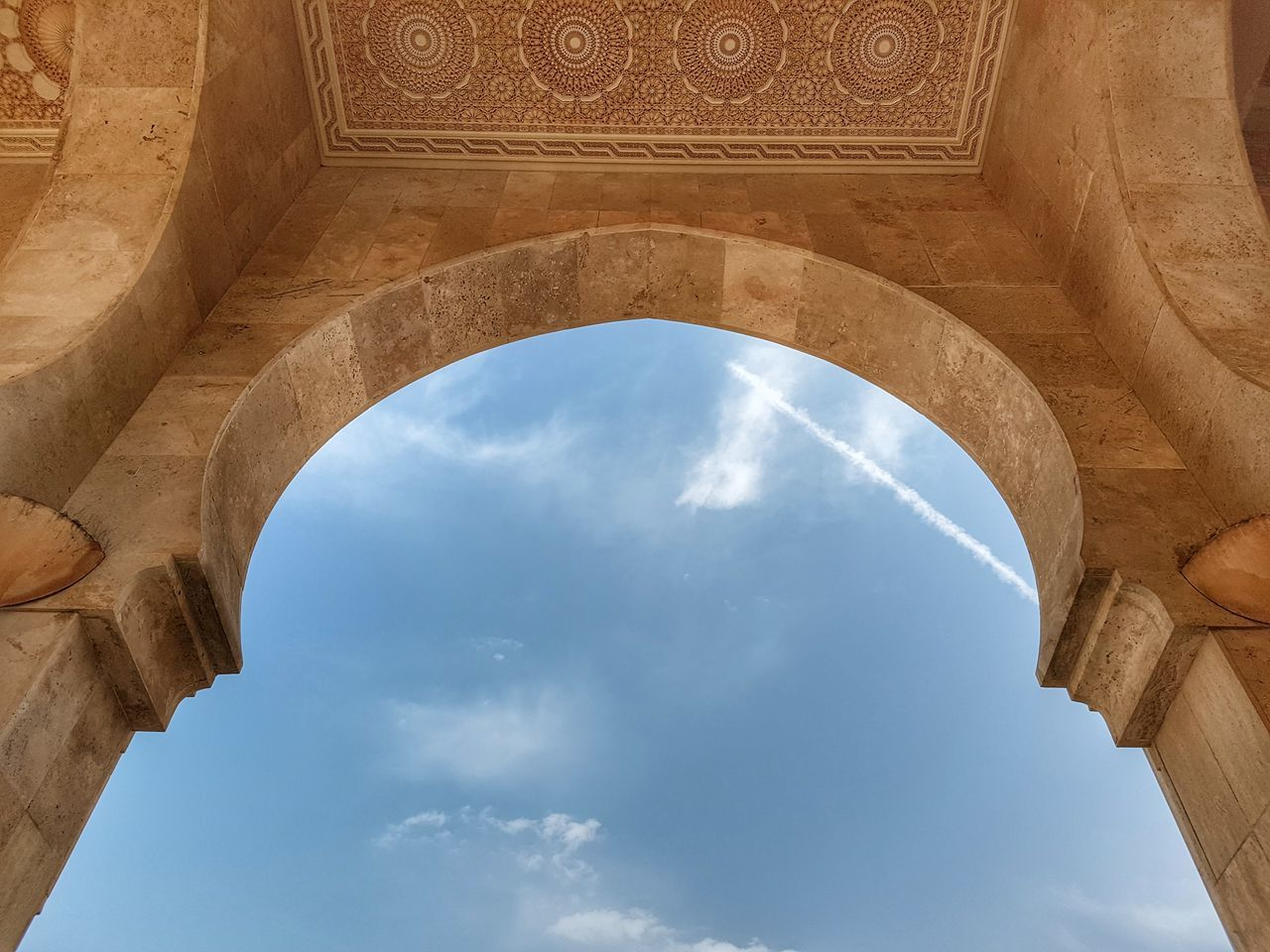 Architecture Arch History Travel Destinations Religion Ancient Old Ruin Low Angle View Monument Archaeology Stone Material Travel Architectural Column Built Structure Day Ancient Civilization Marble Dome Sky Beauty Casablanca, Morocco