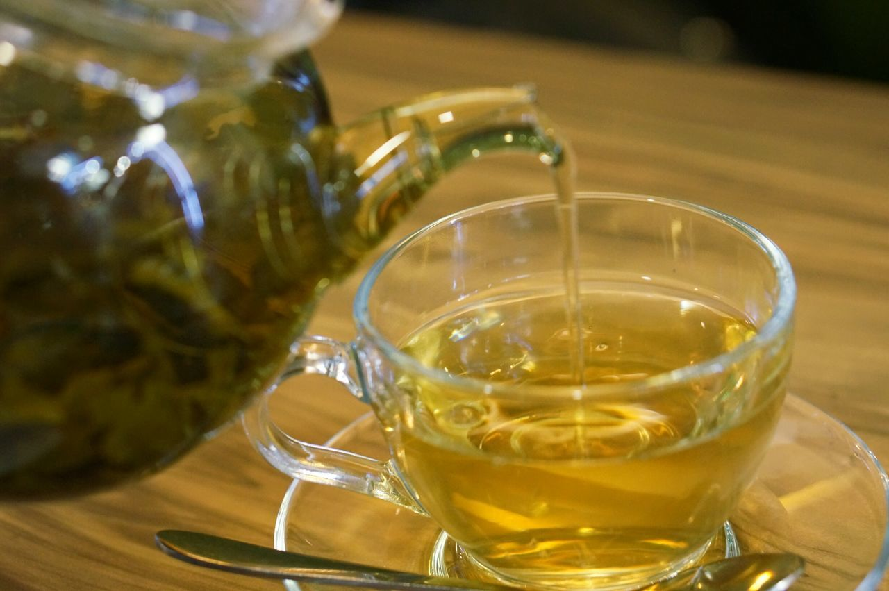 Drink Food And Drink Refreshment Drinking Glass Table No People Freshness Teapot Tea Green Tea Tea Cup Tea Pouring Pouring Water Pouring Evening Tea - Hot Drink Tea Drinking