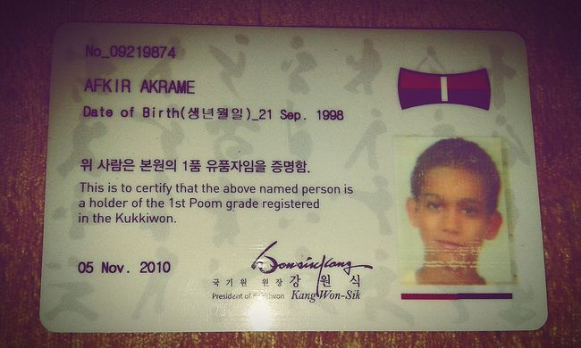 Hello WorldTaekwondo Noir Kokewan