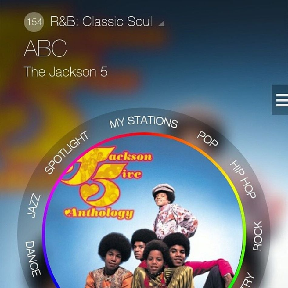 Spaced out to the classics on my MilkRadio app. Jackson5 ABC Oldiesbutgoodies realmusic
