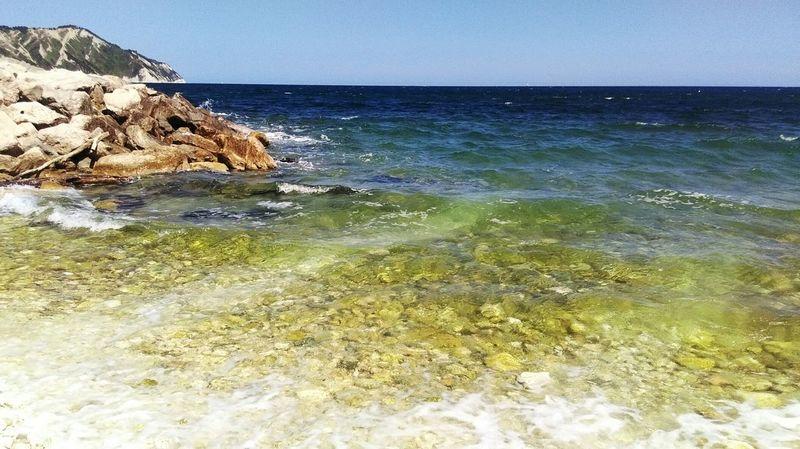 Sea Portonovo Conero Sea And Sky Seaside Water Sky Sea_collection Traveling Go To The Sea Showcasejuly